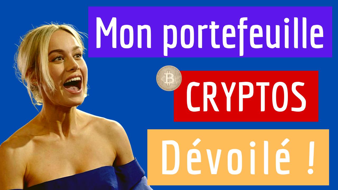 Investissement : Mon portefeuille crypto, projets sélectionnés et pourcentages alloués.